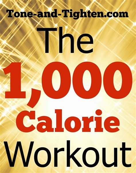 1000 calorie at home workout tone and tighten