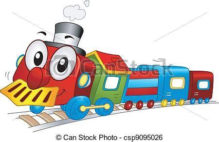 clipart treno clipart vettoriali di giocattolo treno mascotte