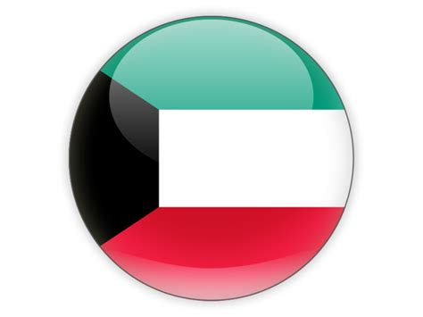 icon design kuwait round icon illustration of flag of kuwait