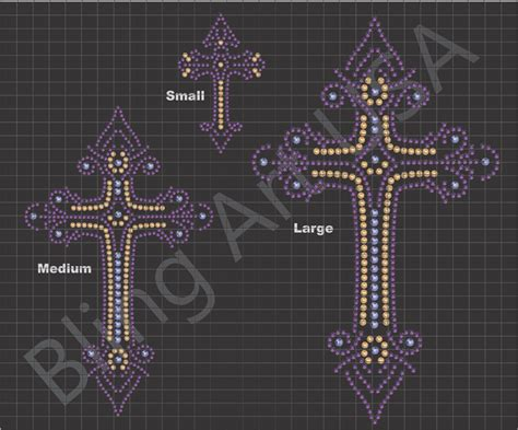 crosses rhinestone sticky flock template stencil pattern