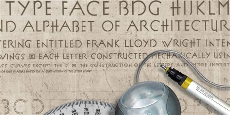 Frank Lloyd Wright Font Free p22 fllw exhibition befonts com