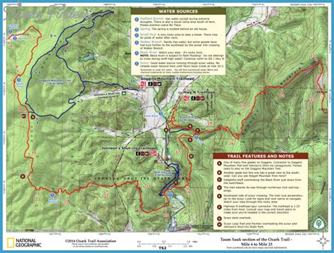 ozark trail map ozark trail map missouri travelsfinders