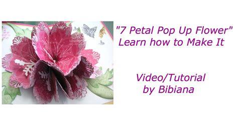 how to make a pop up flower card 7 petal pop up flower card