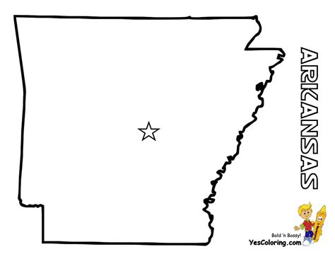 Map Arkansas Map Template Map Template
