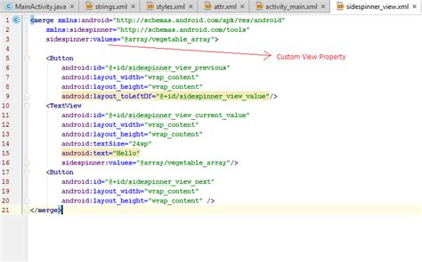 xml layout properties does android studio layout editor shows custom view pro