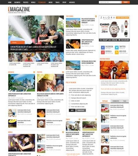 News Magazine Template joomla news magazine templates omegatheme