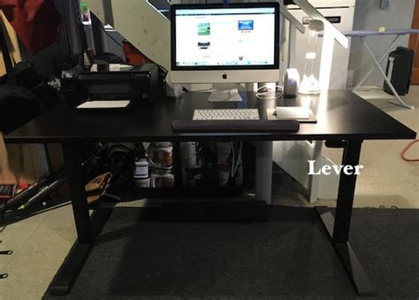realspace magellan pneumatic stand up height adjustable desk espresso realspace magellan pneumatic stand up adjustable desk