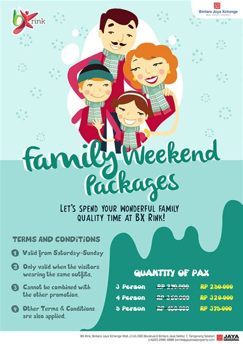 Family Package family weekend packages bintaro xchange skating rink