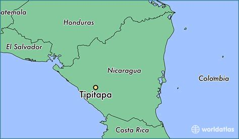 where is nicaragua on the world map where is tipitapa nicaragua where is tipitapa