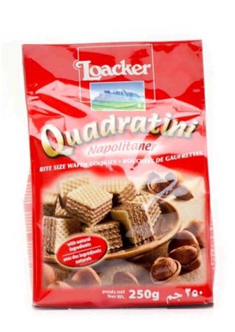 Loacker Quadratini Napolitaner Wafer 250gr loacker loacker quadratini napolitaner 250g chocolates direct