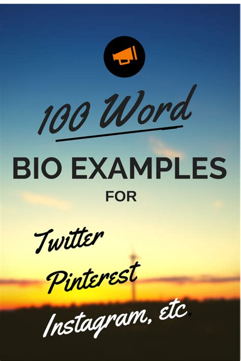 personal biography exle 100 words words for instagram bio images