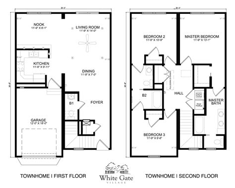 townhome floor plan 28 townhome floor plans 3 bedroom townhome sea mist