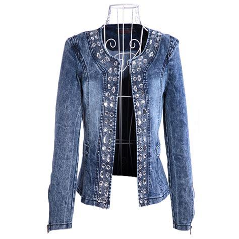large jackets jacket coat denim up to 3xl 4xl big size top jacket with rhinestone sequins o