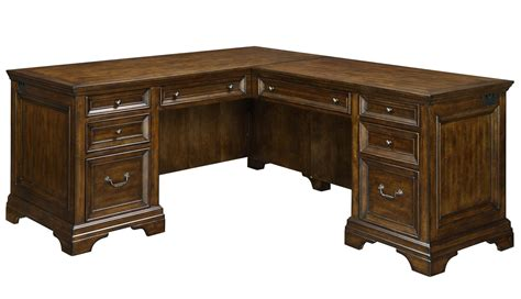 flexsteel wynwood collection woodlands l shaped desk