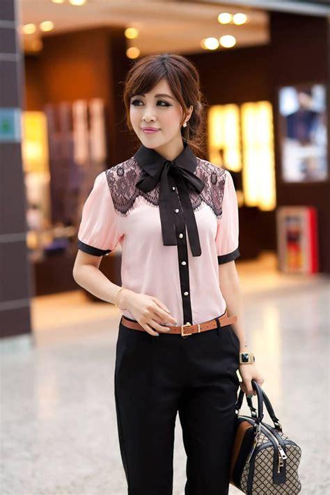 Baju Cewe Big Size Murah Sofia Blouse Bigsize Linen Desy Fit To A kemeja kerja wanita kombinasi renda brokat kemeja wanita brokat