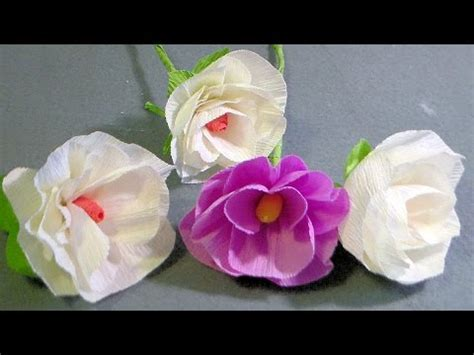 crepe paper flower tutorial youtube how to make crepe paper flowers youtube