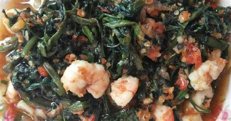resep cah kangkung udang pedas oleh annisa indah vuspita