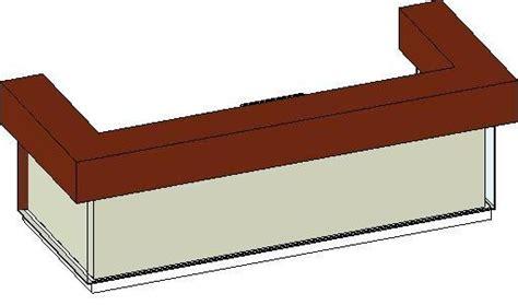 Revit Reception Desk Revitcity Object Custom Makore And Glass Reception Desk