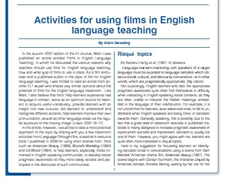 Teaching Vocabulary Through Thesis by Free Software Teaching Through