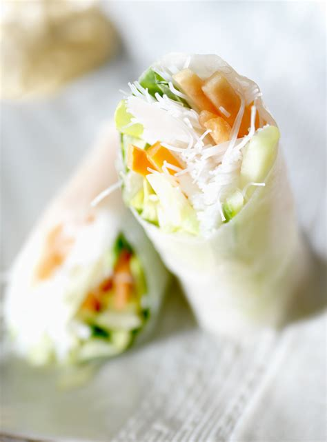 Rice Paper Rolls - leftovers solution rice paper rolls