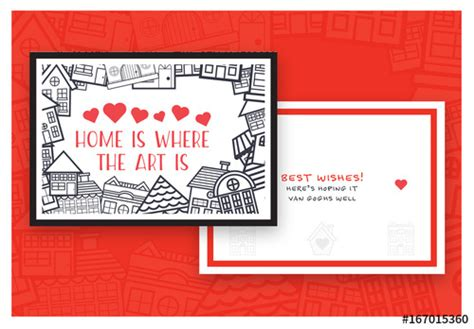 Adobe Greeting Card Template by New House Greeting Card Layout 4 Buy This Stock Template
