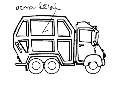 coloring page of trash truck garbage truck coloring page