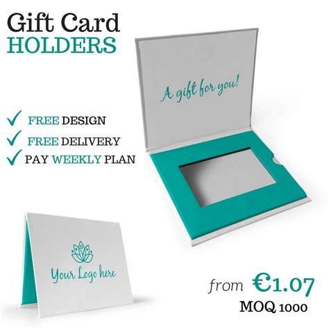 Personalize Gift Cards - printed gift card boxes and gift card holders now available with pay weekly payment plan barry