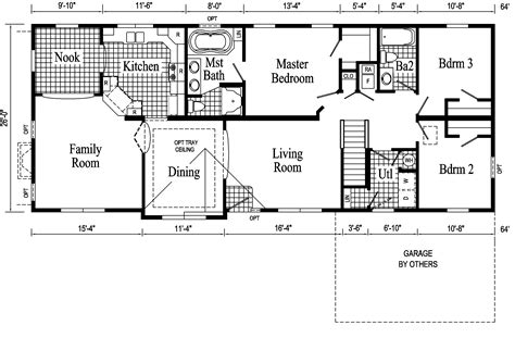 Open Ranch Style Floor Plans And Affordable Living Made Possible By Ranch Floor