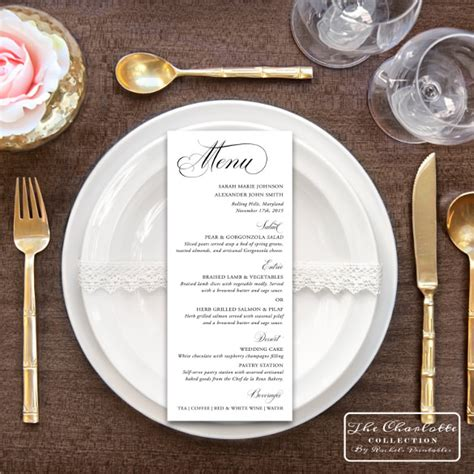 menu card templates for wedding reception 45 menu card templates free sle exle format