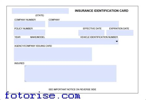 Insurance Cards Templates   Resume Builder