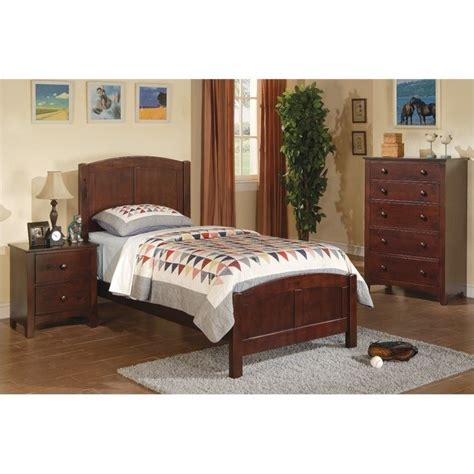 kids twin bedroom set poundex 3 piece kids twin size bedroom set in dark oak