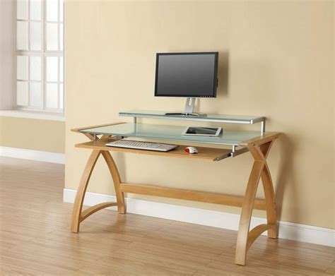 oak home office study computer desk with sliding keyboard