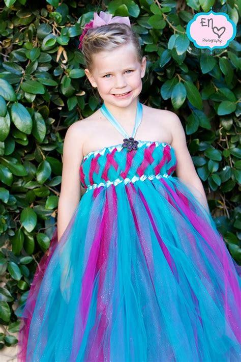 Pink Layered Dress Anak Perempuan teal and rasberry glitzy glam empire tutu dress flower