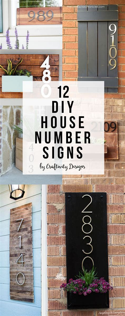 diy house diy house number sign craftivity designs