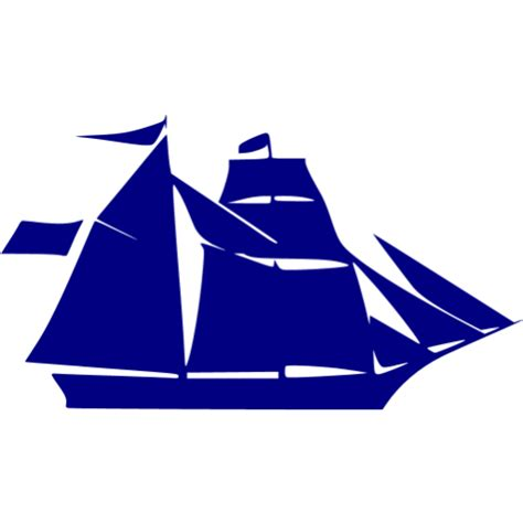 boat icon yellow navy blue boat 6 icon free navy blue boat icons