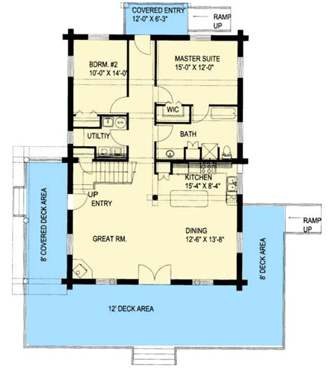 master suite floor plans enjoy comfortable residence with comfortable log house plan 35015gh 1st floor master