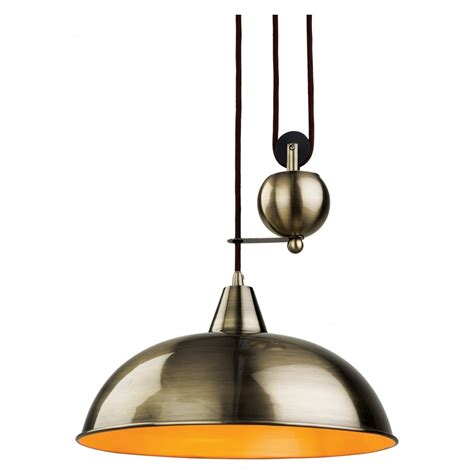 Ceiling Pendants Lighting Firstlight Century Antique Brass Rise Fall Ceiling Pendant Shop By Type From Ideas4lighting Uk