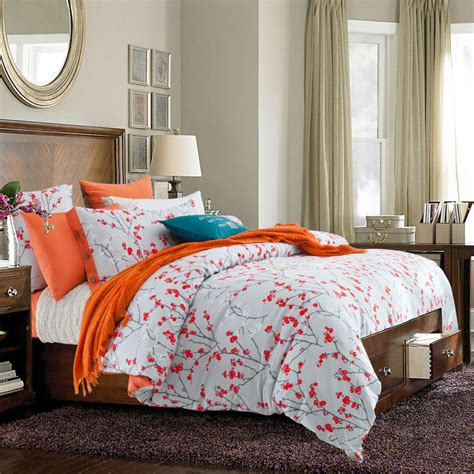 Bed Cover Set King Size Mix Orange Sheets Promotion Shop For Promotional Orange