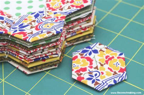quilting piecing tutorial tutorial english paper piecing hexies part 1 the zen