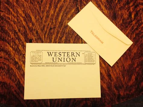 Western Union Gift Cards - western union telegram stationery