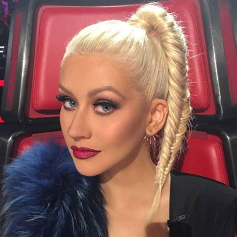 hairstyles on the voice christina aguilera s hair on the voice fun fishtail
