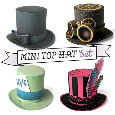 mini top hat template steunk mini top hat pattern images
