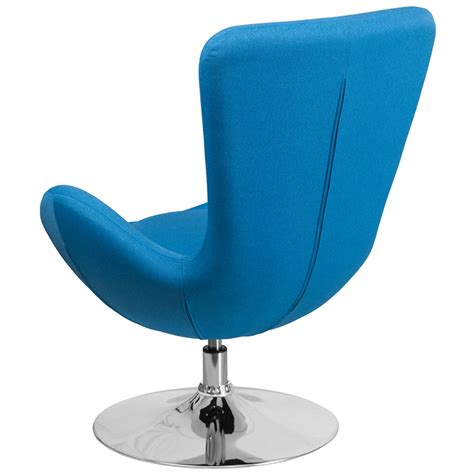 Fab Flash Designer And Carpet Relations Strictly Business by Aqua Fabric Egg Series Reception Lounge Side Chair Flash