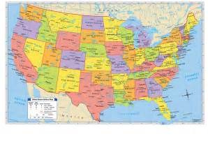 political map of the united states of america united states of america political map
