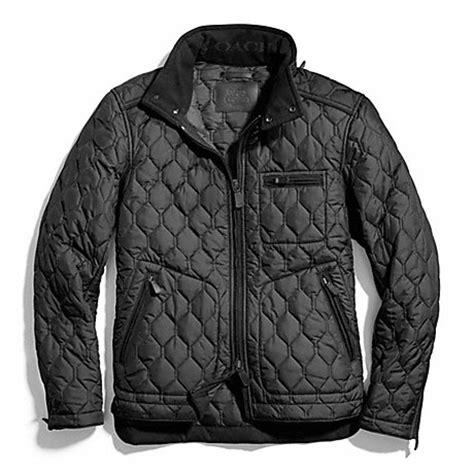 Coach Quilted Jacket Womens by Coach F83741 Bowery Quilted Racer Jacket 30865 Coach