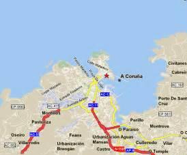 La Coruna Spain Map by La Coruna Map And La Coruna Satellite Image
