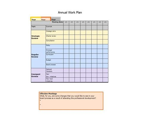 professional work plan template professional work plan template choice image free