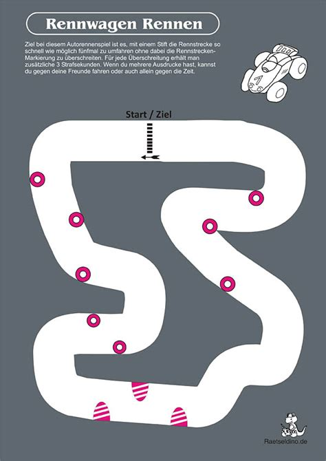 Spiele F R Kinder Autorennen by Rennwagen Rennen Mit Rennstrecke Zum Ausdrucken
