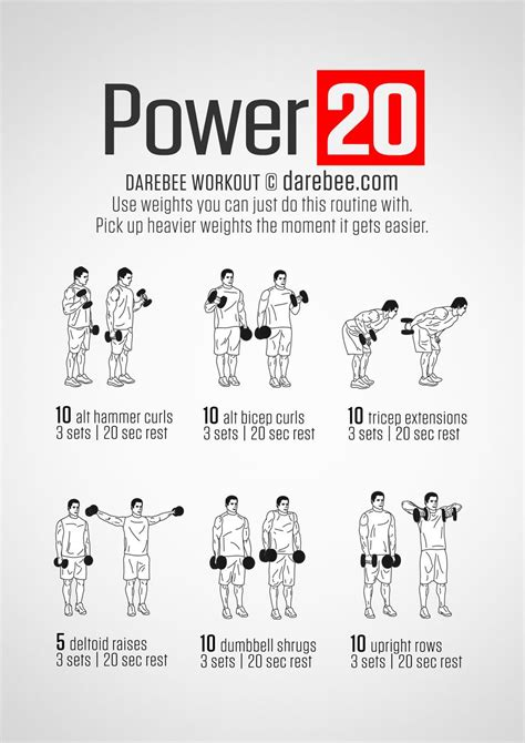 best dumbbell workout routine best 25 home dumbbell workout ideas on