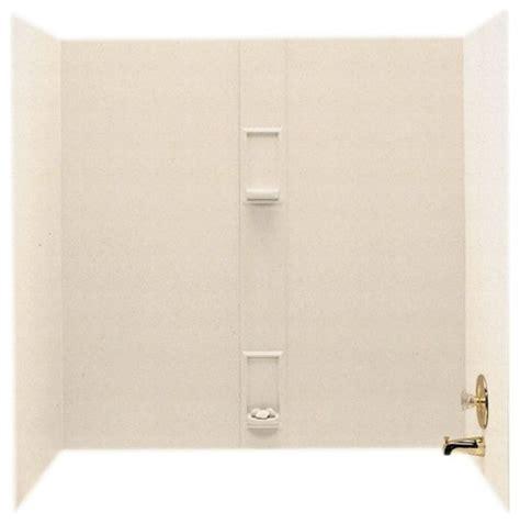 bathtub wall kit shop houzz swan swan 30x60x60 solid surface bathtub wall